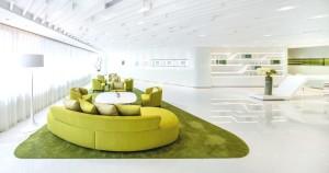 8 Green sofas 300x158 Откриване на медицински център
